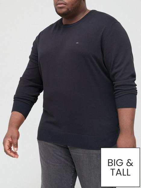 calvin-klein-big-amp-tall-cotton-silk-knitted-jumper-blacknbsp