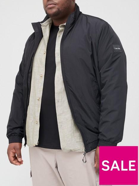 calvin-klein-big-amp-tall-crinkle-nylon-easy-bomber-jacket-blacknbsp