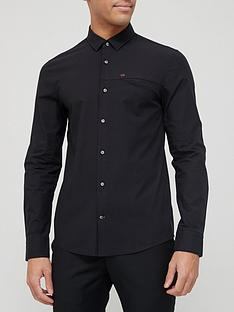 calvin-klein-slim-fit-stretch-poplin-shirt-black