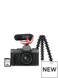 fujifilm-x-t200-camera-inc-xc-15-45mm-lens-vlogger-kit-dark-silver