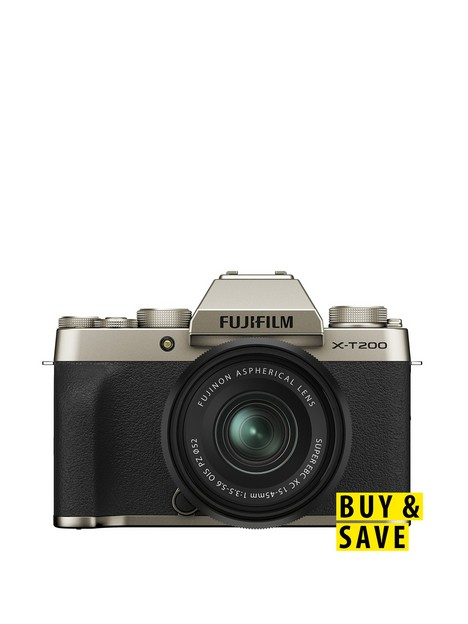 fujifilm-x-t200-mirrorless-camera-with-15-45-mm-f35-56-xc-zoom-lens-champagne-gold