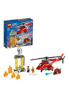 LEGO City Fire Rescue Helicopter and Motorbike Toy 60281 Best Price, Cheapest Prices