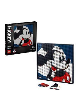 LEGO 31202 Art Disney's Mickey Mouse Poster, Canvas Wall Décor, DIY Set for Adults