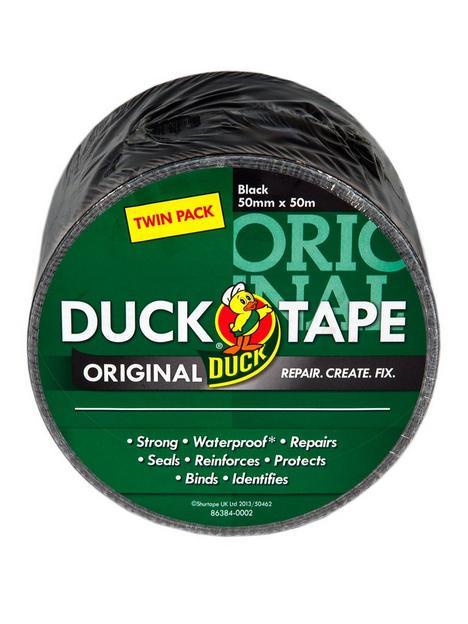 duck-tape-duck-tape-original-50mm-x-50m-black-2-twin-pack-tape