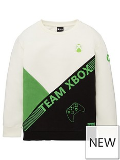 character-boys-xbox-colour-block-sweat-top-white