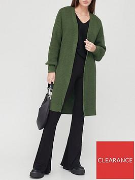 v-by-very-longline-knitted-cardigan-khaki
