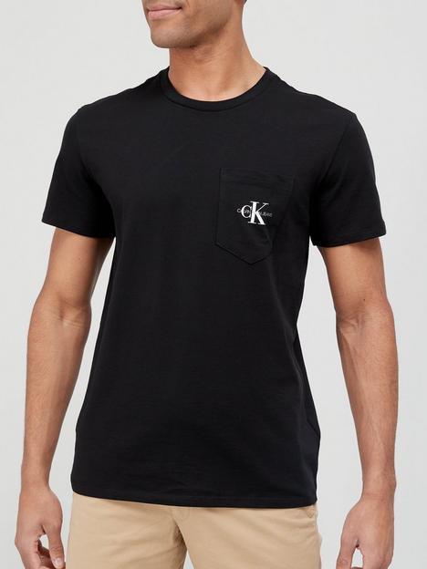 calvin-klein-jeans-monogram-pocket-t-shirt-black