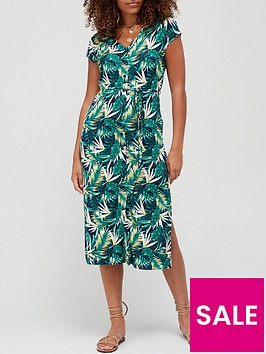 v-by-very-jersey-button-through-midi-dress-tropical-print