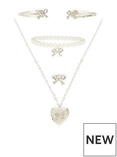 monsoon-girls-diamante-bow-locket-jewellery-set-silver