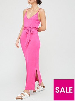 v-by-very-strappy-belted-midi-dress-pink