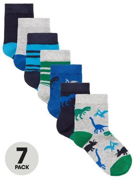 mini-v-by-very-boys-7-pack-dinosaur-socks-multi