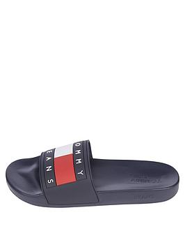 Tommy Jeans Flag Pool Slides - Navy, Twilight Navy, Size 10, Men
