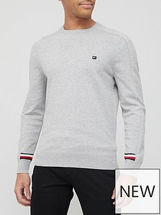tommy-hilfiger-global-stripe-branded-knitted-jumper-grey
