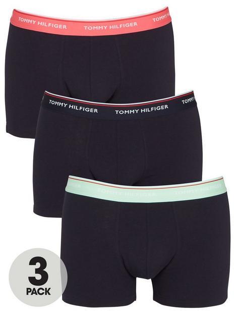 tommy-hilfiger-3-pack-waistband-trunks-navy