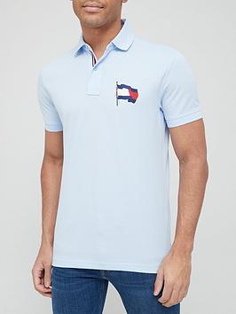 Tommy Hilfiger 1986 Wavy Flag Regular Polo Shirt - Blue