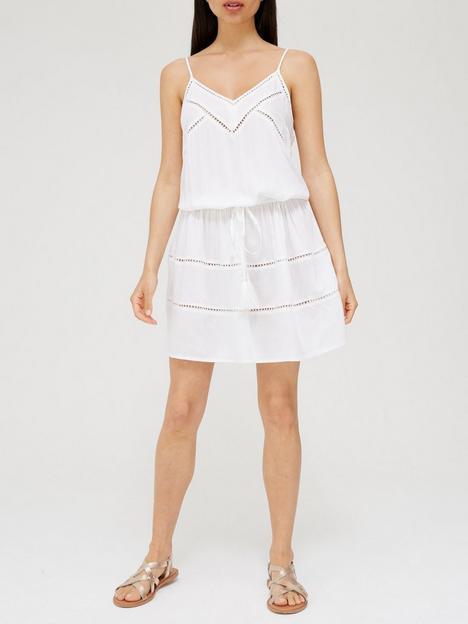 v-by-very-lace-insert-strappy-dress-white