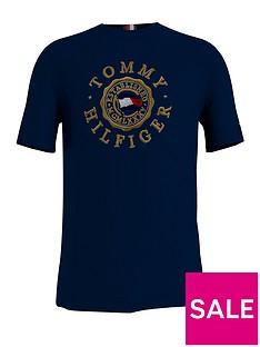 tommy-hilfiger-big-amp-tallnbspbt-icon-coin-t-shirt-desert-sky