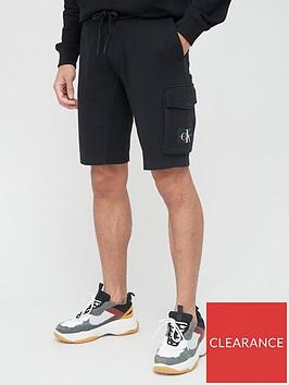 calvin-klein-jeans-monogram-badge-jersey-shorts-black