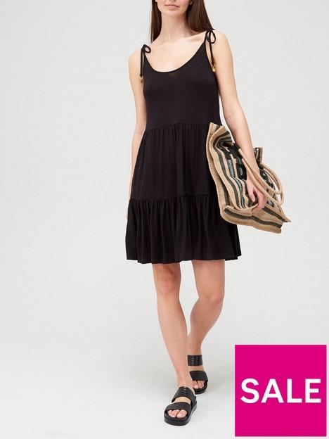 v-by-very-tie-shoulder-tiered-strappy-jersey-dress-blacknbsp