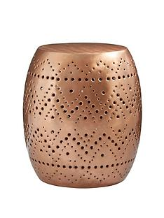 premier-housewares-crest-cutwork-drum-stool-table--copper