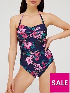v-by-very-shape-enhancingnbsppadded-bandeau-twist-front-ruched-swimsuit-tropical-print