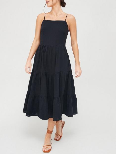 v-by-very-tiered-strappy-midi-dress-black