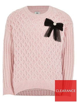 river-island-girls-chenille-bow-jumper-pink