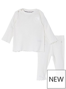 river-island-baby-baby-girls-bow-ribbed-legging-set-cream