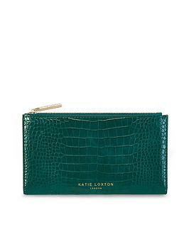 katie-loxton-celine-faux-croc-fold-out-purse-green