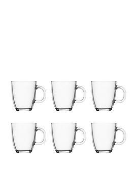 Bodum Transparent Bistro Set Of 6 Mugs, 350Ml