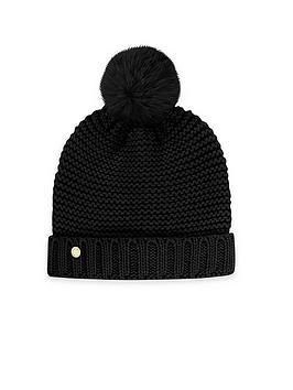 katie-loxton-chunky-knit-hat-black