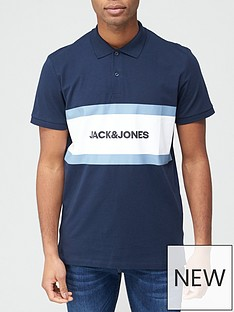 jack-jones-colour-block-polo-shirt-navy