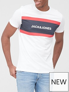 jack-jones-colour-block-logo-t-shirt-white
