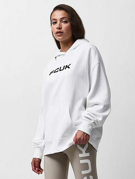 French Connection French Connection Fcuk Oversized Hoodie - White, White, Size Xs, Women