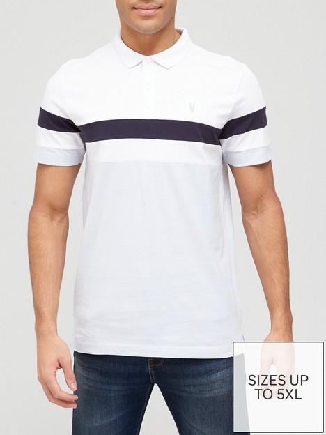 very-man-colour-block-polo-shirt-navybluewhite