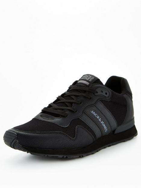 jack-jones-mesh-logo-trainers-black