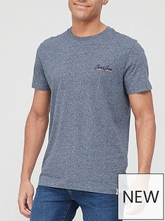 jack-jones-small-logo-marl-t-shirt-navy