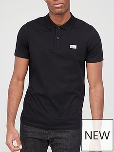 jack-jones-small-logo-polo-black