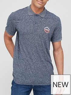 jack-jones-marl-polo-t-shirt-navy