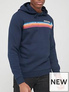 jack-jones-logo-overhead-hoodie-navy