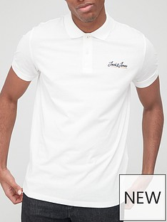 jack-jones-small-logo-marl-polo-white