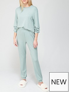 v-by-very-value-sweat-and-jogger-lounge-set--nbspgreen