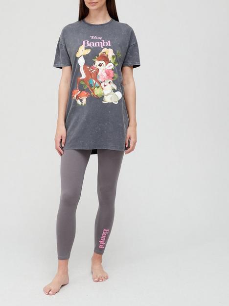 v-by-very-disney-bambi-acid-wash-legging-pyjamas