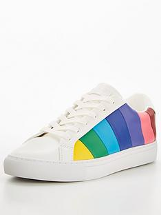 kurt-geiger-london-lane-stripe-trainer-blue