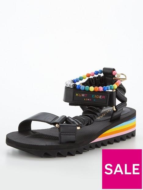 kurt-geiger-london-orion-flat-sandal--nbspblack