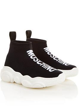 moschino-logo-sock-trainers-black
