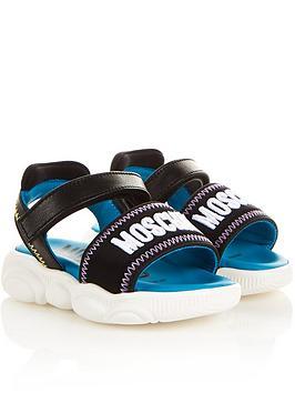 moschino-logo-velcro-sandals-blacknbsp