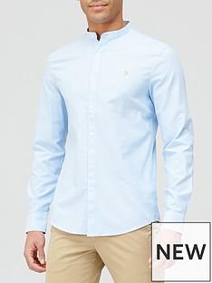 farah-grandad-oxford-shirt-blue-sky