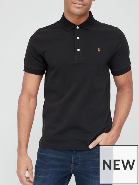 farah-blanes-pique-polo-shirt-blacknbsp