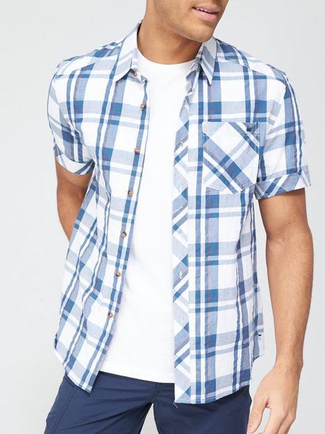 regatta-deakin-short-sleevenbspcheckednbspshirt-white